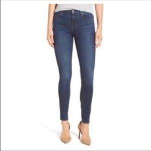 PAIGE skyline ankle peg blue jeans